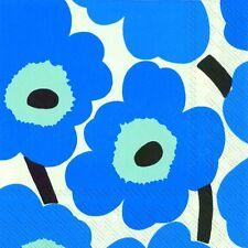 Marimekko UNIKKO blue floral luxury napkins paper napkins new 20 pack