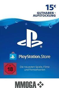 €15 PSN PlayStation Network Guthaben Key - 15 EURO PS4 PS3 PS Vita Code - DE
