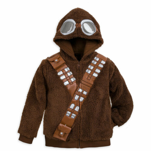 NWT Disney Store Chewbacca Fleece Hooded Jacket Star Wars Costume S,M,L,XL