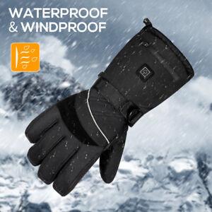 Beheizte Winter Handschuhe Motorrad Warme Elektrische Heizhandschuhe Wasserdicht