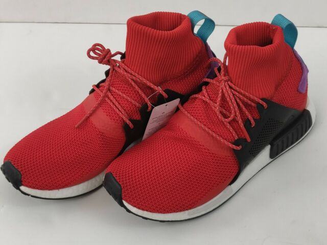hot sale online 7007e 13057 adidas NMD Xr1 Winter Mens Bz0632 Red Black Boost Roller Knit Shoes Size 12