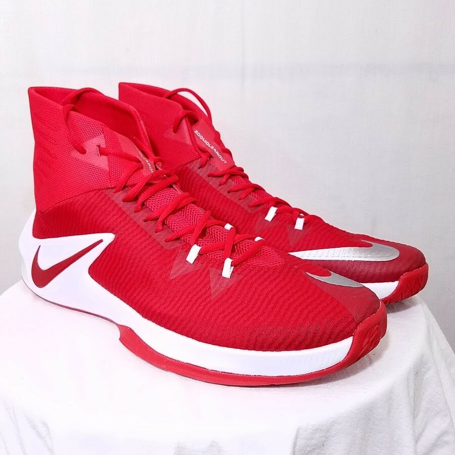 Nike Zoom Clear Out Mens Basketball Shoes 856486 663 Red Size US 18