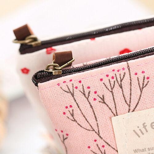 Women Small Mini Wallet Pouch Coins Purse Key Card Holder ZipperHandCanvasBagPsp