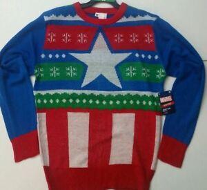 Bnwt Marvel Avengers Captain America Ugly Christmas Sweater Adult