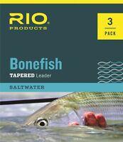 Rio Bonefish Leaders - 3 Pack - Size 10ft - 10lb -