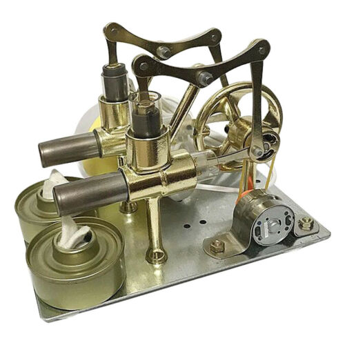 Electric Power Generator Hot Air Engine 2 Cylinders Stirling Engine Model Kits