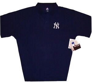 New-York-Yankees-Majestic-MLB-Cotton-Polo-Shirt-Navy-Blue-Big-amp-Tall-Sizes-NWT