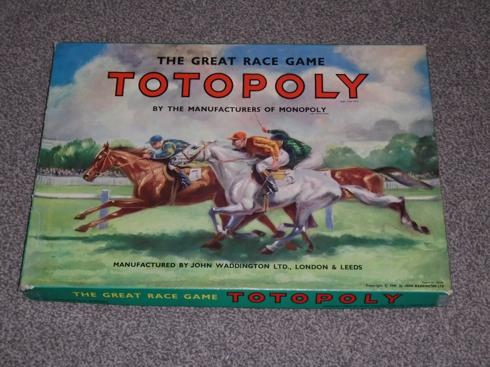 TOTOPOLY GAME - JOHN WADDINGTON  RARE METAL HORSES VINTAGE EDITION (FREE UK P&P)
