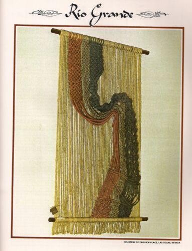 Decorative Macrame Wall Art Pattern BOOK ONLY #Z07 Juliano/'s Hang It All Book 3