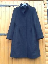 Hobbs London Wool & Cashmere Black Dolly Smart Chic Coat Size 12