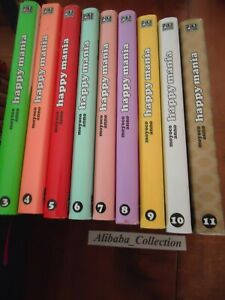 Lote-Happy-Mania-3-4-5-6-7-8-9-10-11-Moyoco-Anno-No-Series-Completo