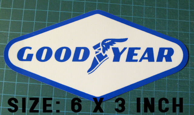 VINTAGE GOOD YEAR TIRES VINYL DECAL STICKER - SCCA - NASCAR - TRANS AM RACING