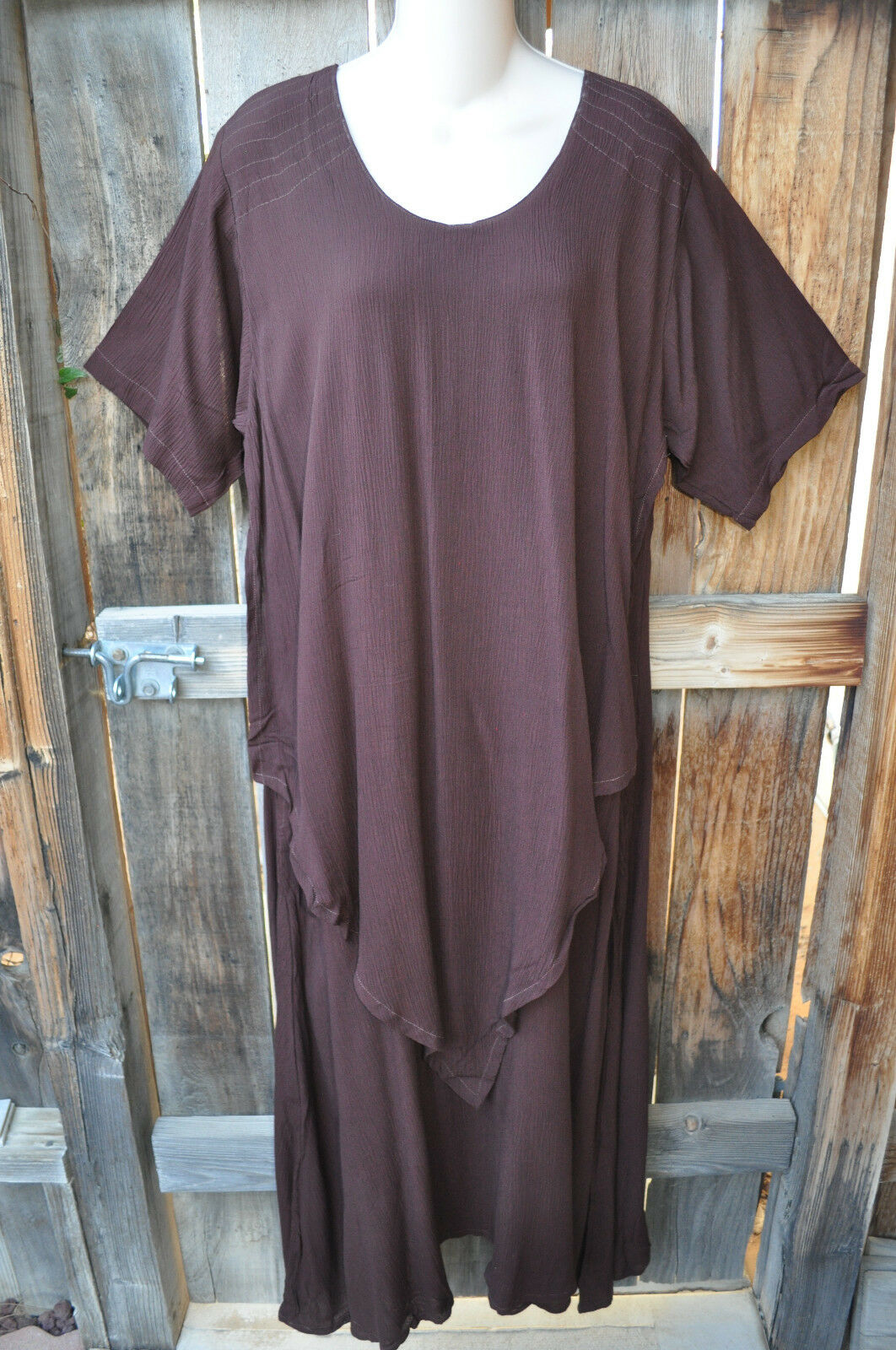 ART TO WEAR LAPIS DRESS IN ALL NEW SOLID COCO BY MISSION CANYON, SZ SMALL, 42 B