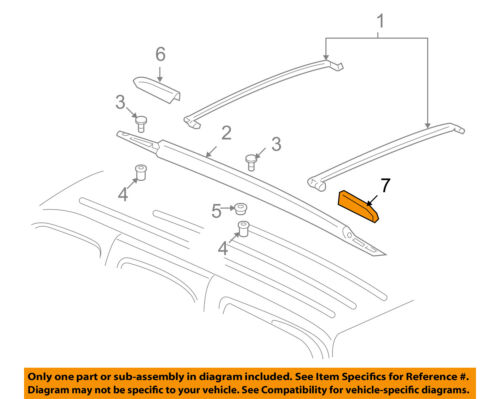 GM OEM Roof Rack Rail Luggage Carrier-Rail Cover Left 25832915