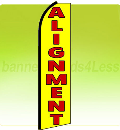 ALIGNMENT - Swooper Flag Feather Flutter Banner Sign 11.5' Tall - yq