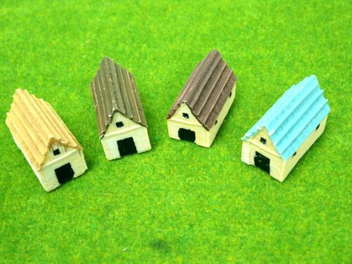 1 set 4 set 1220 Z Scale building General Shed House for model Train layout