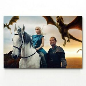 toile tableaux serie tv Game of Thrones mère de Dragons  50x75 cm