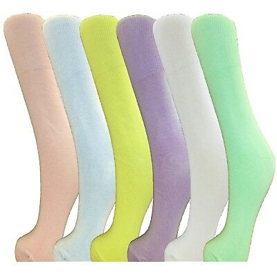 12 Pairs Ladies Cotton Loose Top Socks Size 4-6 Pastel GüNstige VerkäUfe