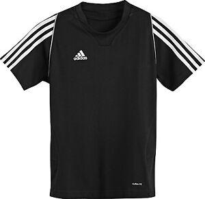 adidas-Kinder-Sport-Shirt-schwarz-Gr-116-128-140-152-164-176-Trainingsshirt