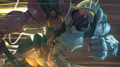 Game Reinhardt Overwatch Silk Poster//Wallpaper 24 X 13 inches