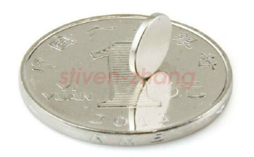 """100PCS Strong 3//8/"""" x 1//16/"""" Craft Magnets Round Disc Rare Earth Magnet Fridge N35"""