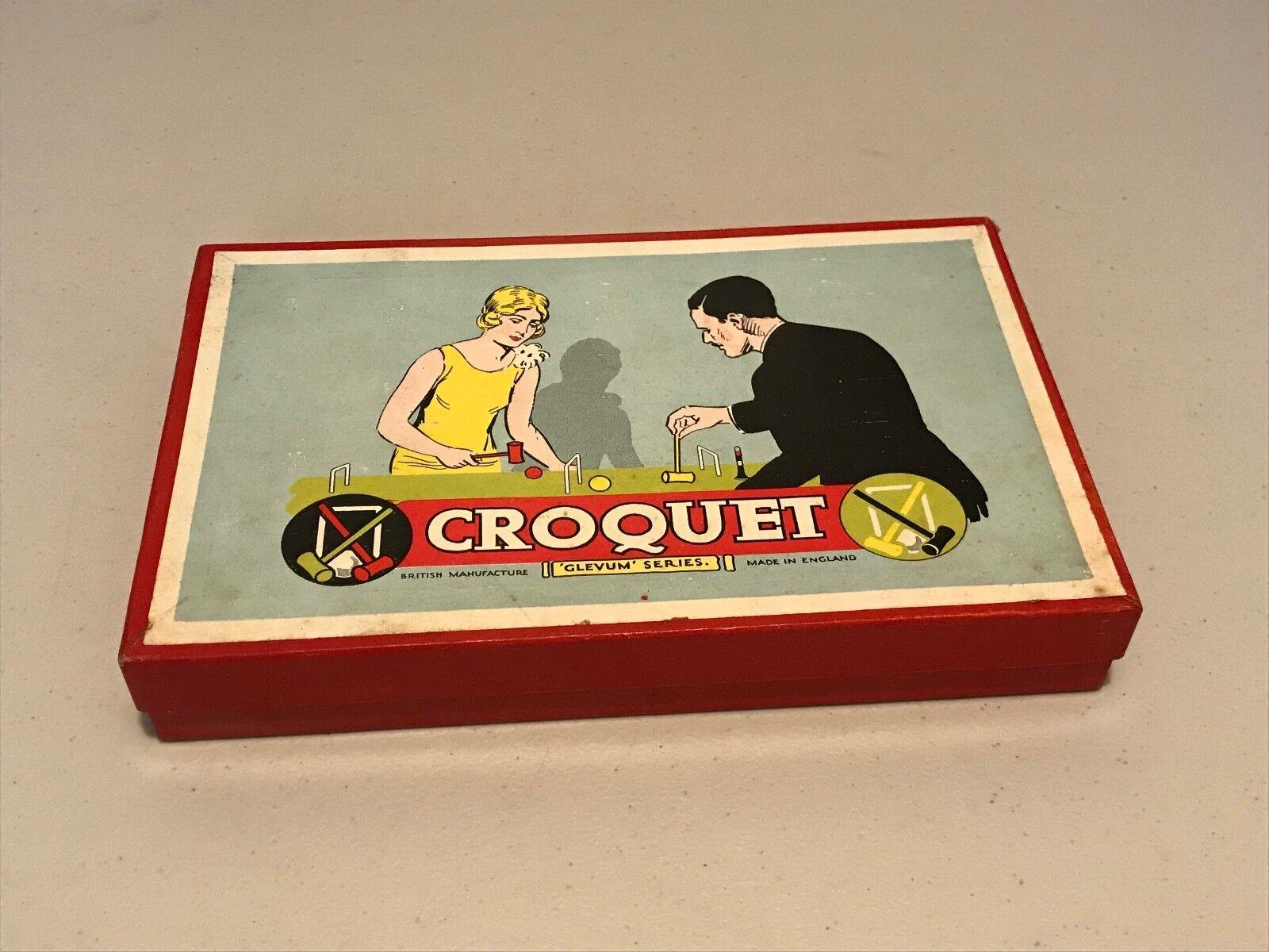 Vintage (1930s/40s) Glevum Games Table Croquet - Complete - VGC