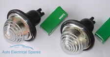 Lucas L594 side light / indicator flasher lamp CLEAR GLASS x 2 ( 1 PAIR )