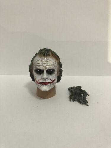 """1//6 Heath Ledger Head Sculp form The Dark Knight Joker For 12/"""" Hot toys"""