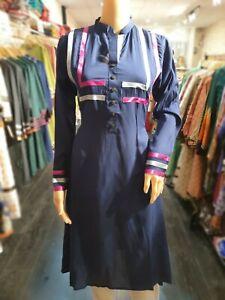 Indian-Pakistani-Shalwar-Kameez-Salwar-Saree-Suit-Dress-Designer-Kurta-Blue