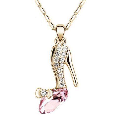 Cadeau chaud Chaussures Fantasy Lady Charme Femmes Bijoux Collier Cristal Pendentif Haute