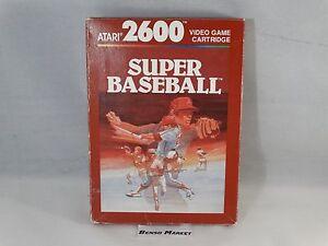 SUPER-BASEBALL-ATARI-2600-VCS-7800-VIDEOGIOCO-VINTAGE-ANNI-80-COMPLETO