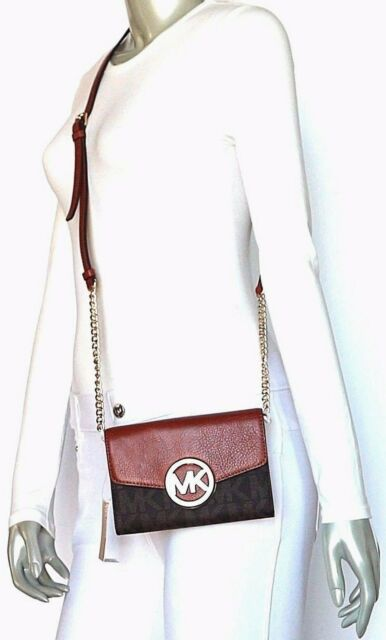 b79442eb989c97 Michael Kors Hudson Signature MK Logo PVC Leather Phone Wallet ...