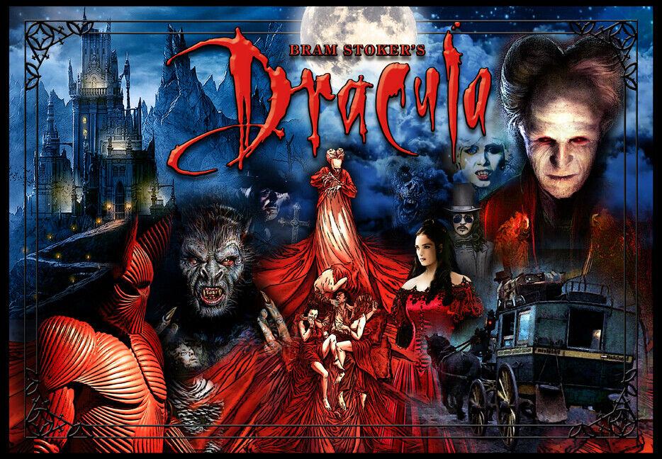 Bram Stokers Dracula Pinball Alternate Translite (2Choices Bloody or non)