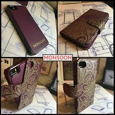 Genuine Apple iPhone 5  5S  SE Designer 2 Case in 1 Retro Leather By Monsoon