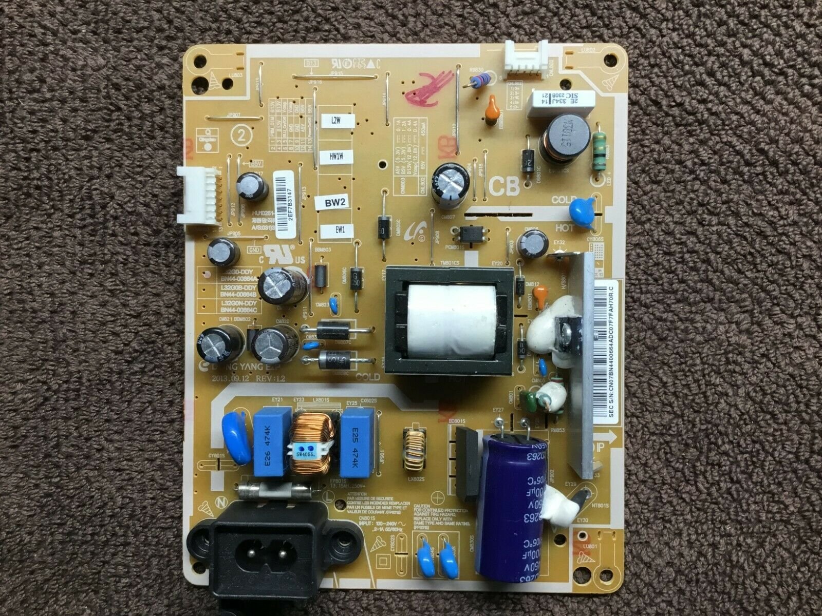 NEW Samsung UN32EH4003F Power Supply Board BN44-00664A L32G0-DDY