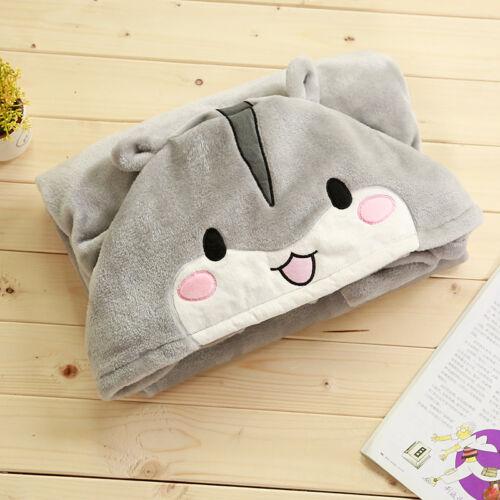 plush toy cartoon lovely happy tongue gray hamster cloak warm blanket girl gift