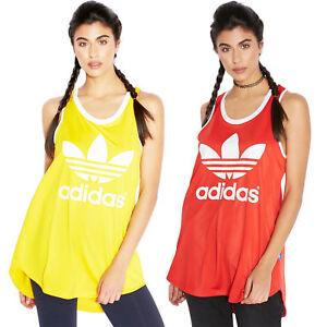 6750496db608a adidas Originals Women s Trefoil Logo Relaxed Fit Vest Track Tank ...