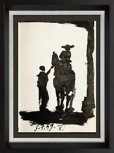 "Pablo PICASSO Lithograph LIMITED Edition - TORO ""V"" - Cat. Ref. C112 w/FRAME"