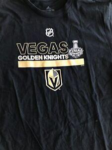 Majestic Las Vegas Golden Knights NHL Womens Primary Logo V-Neck T-Shirt