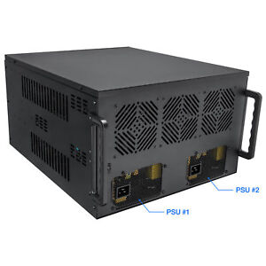 Rosewill-8-GPU-Mining-Case-Frame-Supports-Dual-PSU-039-s-4U-Chassis-Miner-Crypto