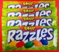 Razzles Sour 4ct Candy Set Free Shipping