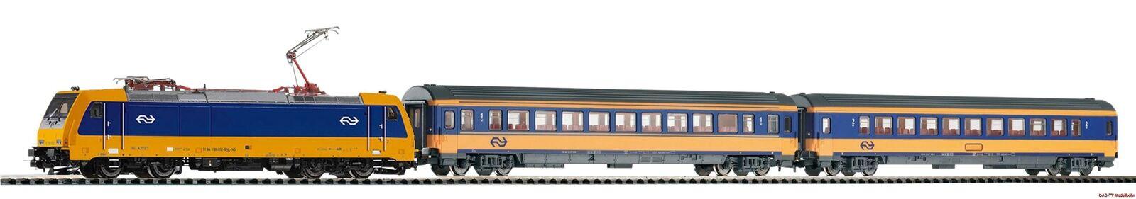 H0 Ljus för Smkonstkontrollera Set NS Personenzug BR185 Intercity 2Wagen Ep.VI Piko 59005