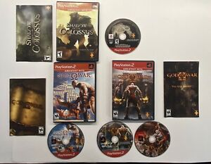 Playstation-2-God-of-War-1-amp-2-Shadow-of-the-Colossus-3-Game-Bundle-PS2