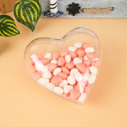 Clear Heart//Star Baubles Fillable For Christmas Tree Ornament Gift Candy Box 8cm