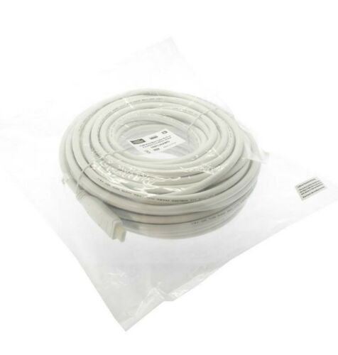 Premium HDMI Cable 100ft Gold For HD TV CL2 White Jacket M//M Cable High Speed