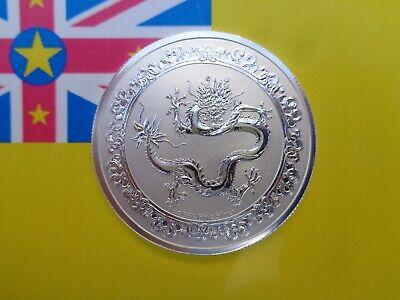 2019 Niue 1 oz Silver $2 Celestial Animals The Green Dragon Coin BU