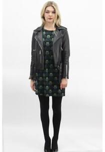 Vintage Dress Eulen S Neu Purplish M L Kleid Xl Strickkleid Owl London Black nx1qqw0Ig