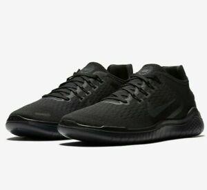 Nike Free RN 2018 Running Shoes Triple Black Men's Sneakers 942836-002 Multi SZ