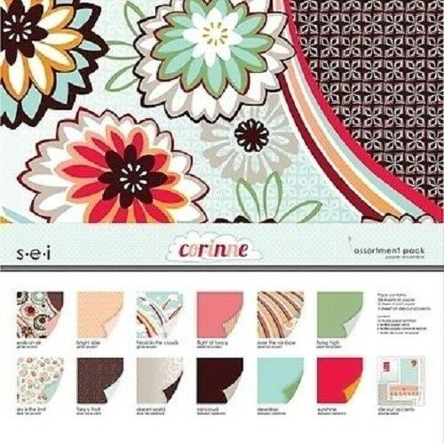 """s.e.i CORINNE Assortment Collection Paper Pack 12/""""x 12/"""" CLEARANCE PRICE"""