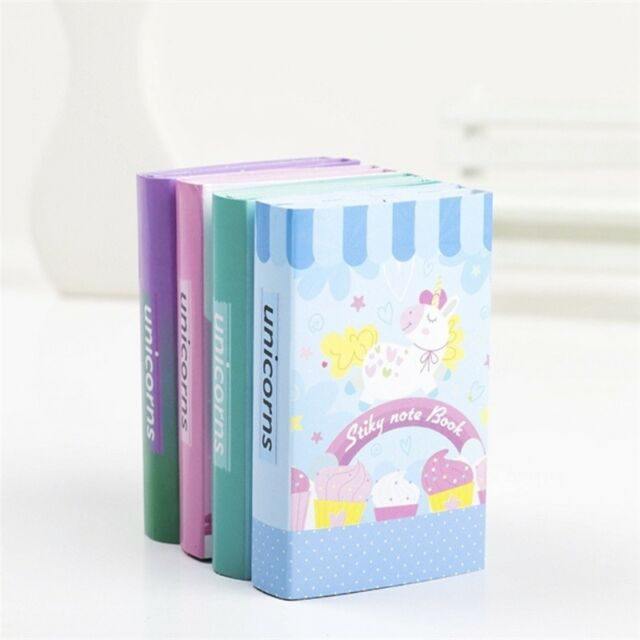 unicorn 6 Folding Memo Pad N Times Sticky Notes Notepad Bookmark Gift Stationery